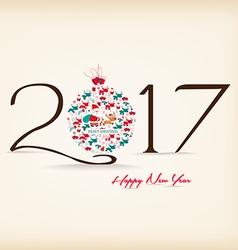 Happy New Year 2017 celebration background vector