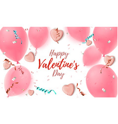 happy valentines day background abstract pink vector image