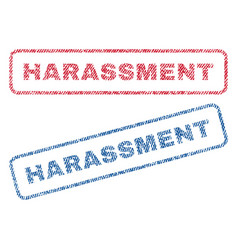 Harassment textile stamps vector