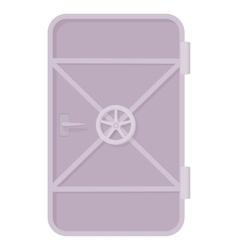 Iron ship door with lock wheel icon vector image