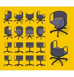 Isometric office spinning chairs vector
