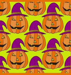 jack-o-lantern pumpkin background vector image