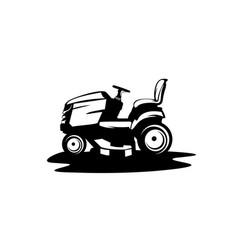 Lawn tractor icon simple lawnmower vector