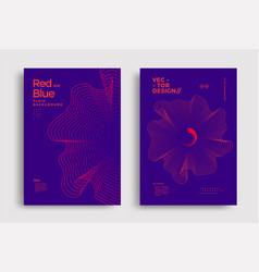 Liquid poster design template in duotone gradients vector
