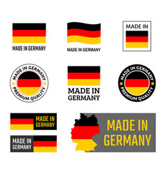 made in germany labels set german product emblem vector image