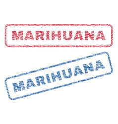 Marihuana textile stamps vector