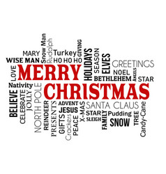 merry christmas word cloud concept vector image