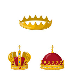 Monarchy and gold icon vector