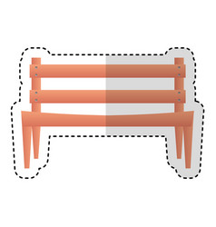 park chair isolated icon vector image