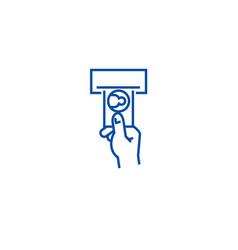 payment cash line icon concept payment cash vector image