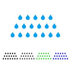 Rain drops flat icon vector