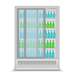 refrigerator for bpottles for retail purposes vector image