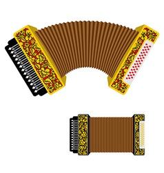 Russian accordion musical instrument harmonic vector image