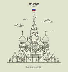 saint basils cathedral in moscow vector image