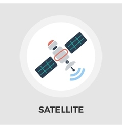 Satellite flat icon vector image