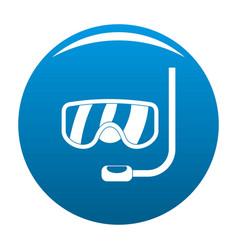 scuba mask icon blue vector image