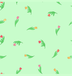 Seamless pattern with cute small cartoon colored vector