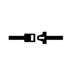 Seatbelt icon vector