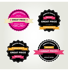 Set of labels Best sale vector