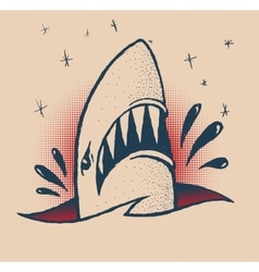 Shark traditional tattoo vector image