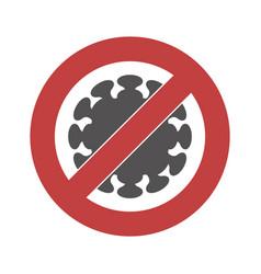 Sign a strikethrough coronavirus vector