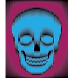 Sliced gradient skull vector