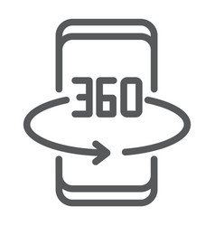 Smartphone degree line icon device and technology vector