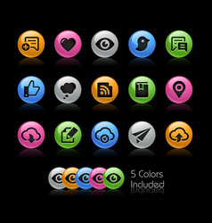 social sharing and communications - gelcolor vector image