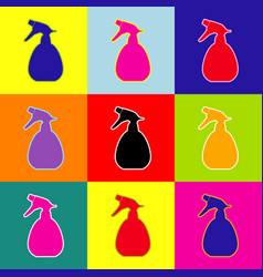 spray bottle for cleaning sign pop-art vector image