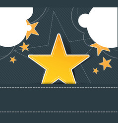 star label on retro design vector image