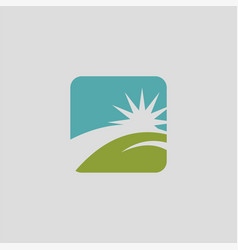 Star landscape logo vector