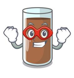 Super hero chocolate milk the containing nutrition vector