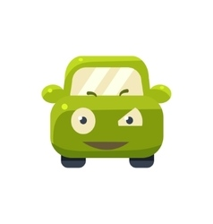 Suspicious green car emoji vector