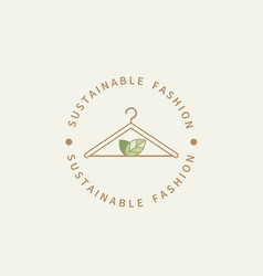 sustainable fashion logoeco friendly production vector image
