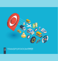 Transportation integrated 3d web icons growth and vector