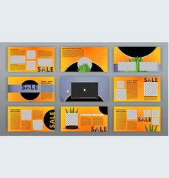 trendy website templates minimal presentation vector image