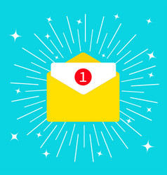 unread mail notification with number marker email vector image