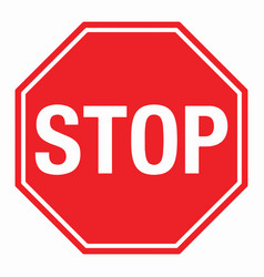 wall red stop sign eps10 vector image