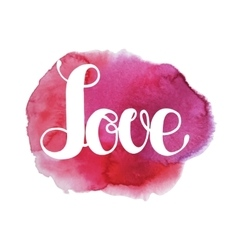 Watercolor love lettering vector