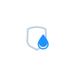Waterproicon water drop and shield vector