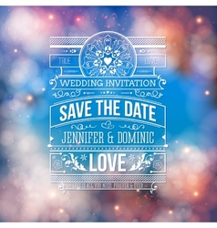 Wedding concept - save the date artistic design vector