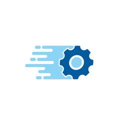Wheel delivery logo icon design vector