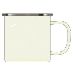 White enamel mug vector