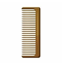 Wooden hairbrush icon cartoon style vector