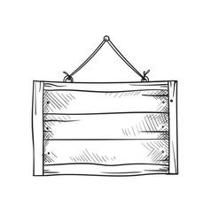 wooden sketch board vector image