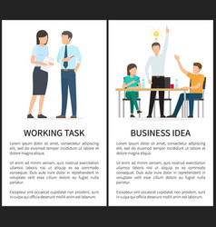 working task and business idea vector image