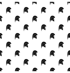 Knight helmet pattern simple style vector image
