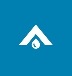 letter a water drop logo icon design template vector image