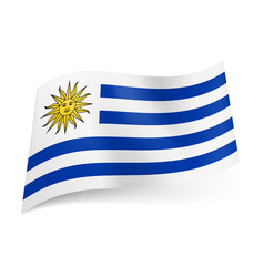 national flag of uruguay white and blue vector image