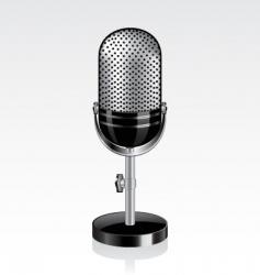 retro microphone vector image vector image